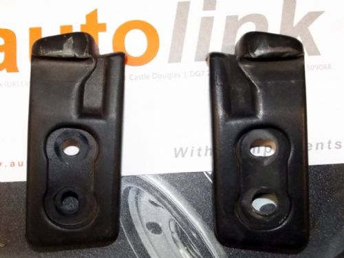 Soft top front fitting brackets / striker plates, pair, Mazda MX-5 mk2, USED